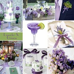 Lavender and Green Wedding Colors - Lavender and green create a lovely wedding palette, especially nice for spring or summer.