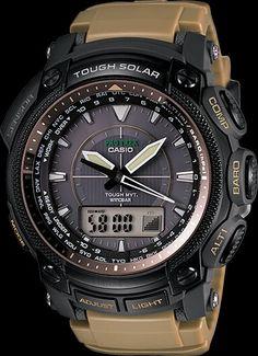 Casio Pathfinder ProTreck  PRW5050BN-5  compass, altimeter, barometer, thermometer solor atomic