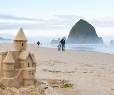 You can't miss Haystack Rock sticking 235 feet out of the water on Cannon Beach, about 90 minutes from Portland.