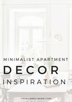 Looking for some inspiration to decorate your apartment! Here are some minimalist style decor ideas!