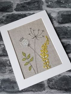 Embellished Art Quilting Stitching 35 Ideas For 2019 Embroidery Cards, Free Motion Embroidery, Embroidery Applique, Embroidery Patterns, Modern Embroidery, Hand Quilting Patterns, Quilting Designs, Art Quilting, Fabric Cards