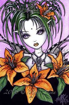 """Ayla"" Tiger Lilly Flower Faerie"