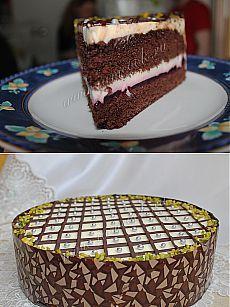 Торт шоколадно-пудинговый.