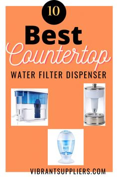 The countertop water filter dispenser is designed to fit neatly on countertops and tabletops and remove any contaminants on the tap water Brita Water Filter, Sink Water Filter, Countertop Water Filter, Water Filter Pitcher, Water Filters, Glass Dispenser, Best Alkaline Water, Alkaline Water Filter