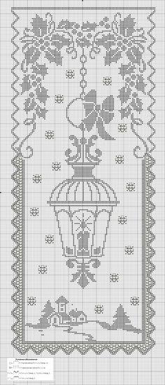 Gardine/Vorhang Laterne/Winter Curtain / curtain Lantern / winter Curtain / curtain Lantern / winter The post Curtain / curtain Lantern / winter appeared first on curtains ideas. Crochet Shawl Free, Filet Crochet Charts, Cross Stitch Charts, Cross Stitch Designs, Cross Stitch Patterns, Crochet Books, Crochet Home, Thread Crochet, Crochet Stitches