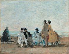 Eugène Boudin - Scène de plage à Trouville (1862)