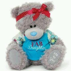 Me to You Tatty Teddy Bear Wearing a Fab Daughter T-shirt and for sale online Daughter Poems, To My Daughter, Tatty Teddy, Daughters, You And I, Plush, God, Teddy Bears, Gifts