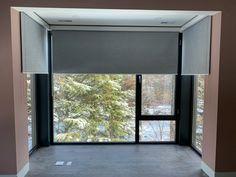 Blackout blinds in Toronto Motorized Blinds, Blackout, Motorized Shades, Window Design, Master Bedrooms Decor, Blinds, Interior Design Bedroom, Custom Window Blinds, Blackout Blinds