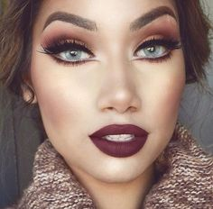 Autumn makeup.