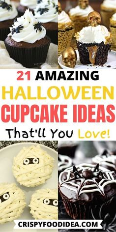 Looking for halloween recipes to celebrate with your family or friends? Here you get delicious and tasty cupcake ideas that everyone will love to eat so much, have fun and enjoy! #halloween #halloweenparty #cupcakes #treats #desserts #holidays #snacks #thanksgiving #crispyfoodidea Halloween Cupcakes Easy, Halloween Baking, Halloween Desserts, Halloween Food For Party, Halloween Cakes, Halloween Treats, Happy Halloween, Holiday Meals, Holiday Desserts