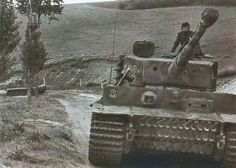 """""""Brandt commanding Tiger 223 of Heavy SS Panzer Battalion 101 moving up"""""""