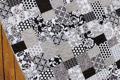 Modern Black & White Lap Quilt