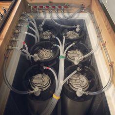 A look inside my recent keezer build. Six keg (ball lock) keezer. 10.2 cubic foot. Keezer organization. Homebrewing. Kegerator. Homebrew. Beerporn.