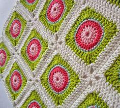You've never seen crochet granny squares like these Juicy Watermelon Squares! | AllFreeCrochetAfghanPatterns.com
