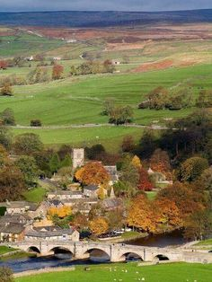 Bursall Village, North Yorkshire, England.   Burnsall is a village in the Craven district of North Yorkshire, England. It is situated on the River Wharfe in Wharfedale, and is in the Yorkshire Dales National Park.  Photo by David Armitage:  http://www.davidarmitagephotography.co.uk/burnsall.html  •Here's a good article about Bursall Village: http://www.yorkshiredales.org.uk/visit-the-dales/discover-the-dales/towns-and-villages/southern-dales-towns-and-villages/burnsall