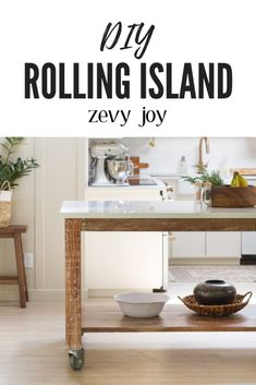 Sharing how we made our DIY rooling cart island that was purposed from a dining table! Step by step instructions on how we pieced it together. Diy Furniture Building, Diy Furniture Projects, Diy Projects, Project Ideas, Diy On A Budget, Decorating On A Budget, Kitchen Decor, Kitchen Ideas, Kitchen Inspiration