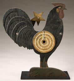 Rooster metal arcade target