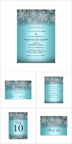 Crystal Snowflake Blue Winter Wedding set