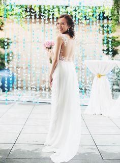 Illusion back wedding dress by Seamstress Kim in Singapore | The Wedding Scoop Spotlight: Sexy Wedding Dresses