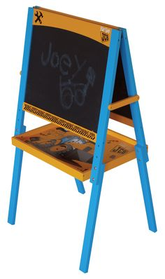 My 1st JCB easel is the perfect addition to any digger mad, JCB themed room or simply as a stand alone piece that would sit perfectly within your little man's room. What a fantastic way to get your little digger enthusiast to practice his technical drawing skills. #jcb #furniture #toy #nursery - Assembly Video: https://www.youtube.com/watch?v=VSLiPQpdAnM