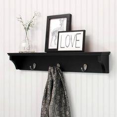 "Kiera Grace Sydney 24"" Wall Shelf and Mail Holder with 3"