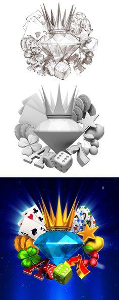 ArtStation - King Diamonds Game logo, Slotopaint GameDesign