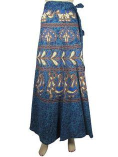 Elegant Cotton Long Wrap Around Skirt Hippie Indie Blue Buff Batik Sarang Print Wrap Skirts Mogul Interior, http://www.amazon.com/dp/B009RHIB2G/ref=cm_sw_r_pi_dp_HDZFqb1B3P7JZ