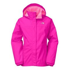 The North Face Girls' Resolve Reflect Jacket Luminous Pink Size L 14/16 MSRP $65  | eBay