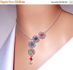 ON SALE 30% OFF Swarovski elements pastel color by NezDesigns