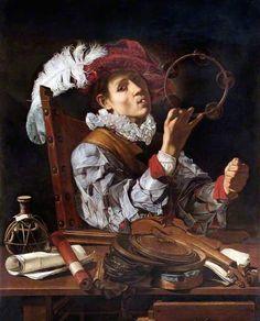 Michelangelo Caravaggio, A musician (Conjuror) on ArtStack #caravaggio #art