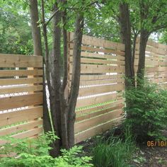 Covering chain link with horizontal wood planks Chain Link Fence Design, Pictures, Remodel, Decor and Ideas