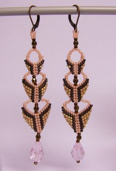 Chandelier Earrings – Chandelier earrings- champagne and chocolate – a unique product by DarkEyedJewels on DaWanda