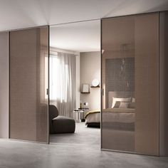 In the context of contemporary living, the door is not only a functional but also an aesthetic design plus, which contributes to the uniqueness of an. Partition Door, Partition Design, Home Room Design, Living Room Designs, House Design, Internal Sliding Doors, Living Room Furniture Layout, Door Design, Room Interior