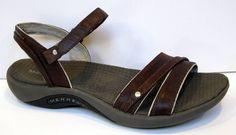 Merrell 'Dahlia'Coffee Bean' Brown Leather Sandal Size US 7 #Merrell #AnkleStrap