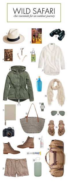 Packing Essentials for a Wild Safari | Bridal Musings Wedding Blog