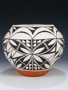 Acoma Pueblo Hand Coiled Pottery by LeeAnn Cheromiah