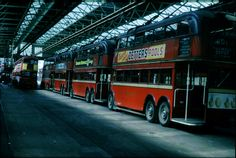 Inside Fulwell Depot - last day of London's trolleybuses 8th May 1962
