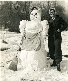 Des bonshommes de neige à lancienne bonhomme neige ancien photo 05 photo photographie histoire