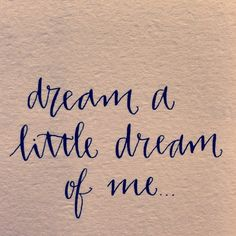 Dream a little dream of me… Night nights!  (at 64G3)