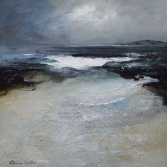 """Achmelvich Bay"" by Patricia Sadler (Seascapes) - acrylic on board"