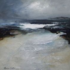 """Achmelvich Bay"" by Patricia Sadler (Seascapes) - acrylic on board"