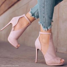"Amazing Accessories: Sexy nude faux suede cut out peep toe ankle booties for  @lolashoetique Credit to: Lola Shoetique (@lolashoetique) on Instagram: ""25% OFF 4th Of July Sale. ✨USE CODE - SPARKIT✨ - MESH With Us You Know We Got It  Our Latest  lolashoetique You don't want to miss out. Tag a friend who would like these. Style: Two Faced"