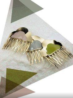 Cloud comb with enamel  Jewels in Paris and web : http://linapoum.bigcartel.com