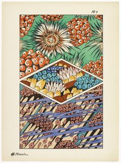 Art deco patterns from Oceanic Fantasies, by E H Raskin, Art Deco, Pattern Drafting, Backgrounds, Patterns, Architecture, Modern, Inspiration, Vintage, Fantasy