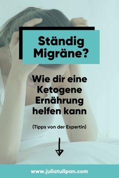 Migräne ist nicht nur einfach Kopfschmerz. Migräne ist eine schwerwiegende neurologische Erkrankung mit dramatischen Folgen für die Betroffenen. Mein Interviewgast Elena Gross leidet nicht nur selbst seit der Pubertät an Migräne, sondern ist auch direkt in der Migräne Forschung involviert. Wieso eine ketogene Ernährung bei Migräne helfen kann, erfährst du hier! Interview, Stress, Low Carb, Science, Neuroscience, Paleo Food, Research, Psychological Stress