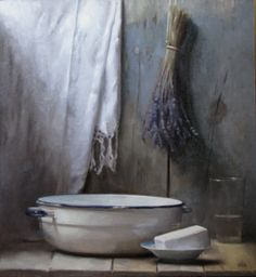 bathroom or outdoor - been there - purple white - Cornelia Hernes