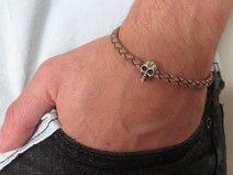 Heren armband - Heren schedel armband