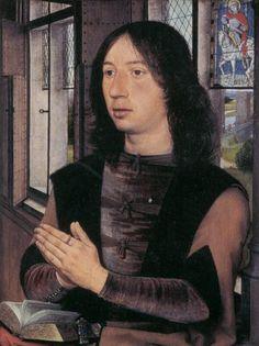 HANS MEMLING / (1487) Diptiek van Maarten van Nieuwenhove / Rechterluik Maarten van Nieuwenhove / Brugge Memlingmuseum Sint-Janshospitaal.
