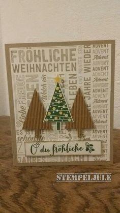 Weihnachtskarte - Stampin up Weihnachtspotpourri - Christbaumfestival - Fröhliche Weihnachten