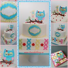 I had the pleasure of making Isabelle's Baptism cake earlier this year and now she's ONE! Happy Birthday Isabelle! Her mom made the cutest owl invitation and asked me to make a cake from that. Here is what we came up with. I think it's adorable…hope you all like it too!    -- ~Daniela xo www.facebook.com/itsacakethingwoodbridge